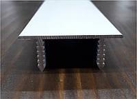 С-образный профиль для окантовки дверей скрытого монтажа 3 пог.м, фото 1
