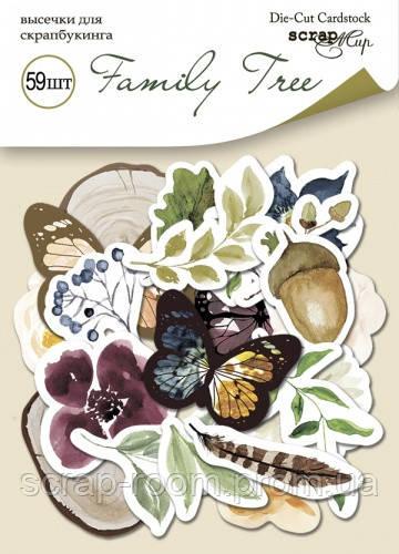 Набор высечек для скрапбукинга 59шт от Scrapmir Family Tree