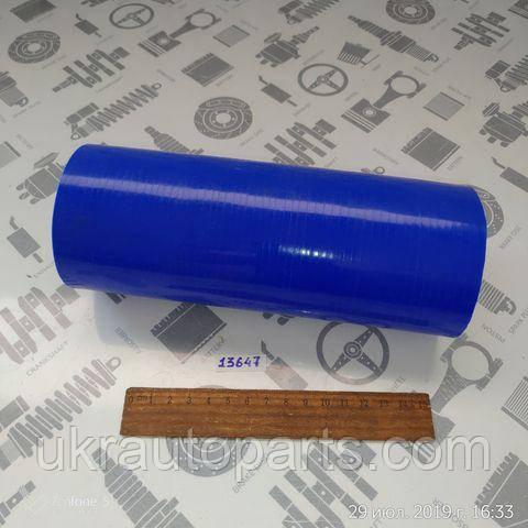 Патрубок радиатора КАМАЗ 5320 нижний 70х200 (СИЛИКОН) (СИНИЙ) (QDAPC) (5320-1303026 L200 blue)