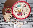 Посуда детская ZAYKA подарочный набор эко бамбук купить оптом со склада 7км Одесса, фото 2