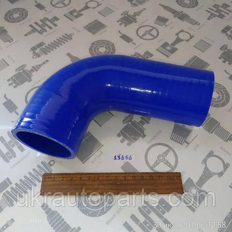 Патрубок радіатора КАМАЗ 65115 65116 верхній 60/60х290 (СИЛІКОН) (QDAPC) (65115-1303010-01 (QDAPC))