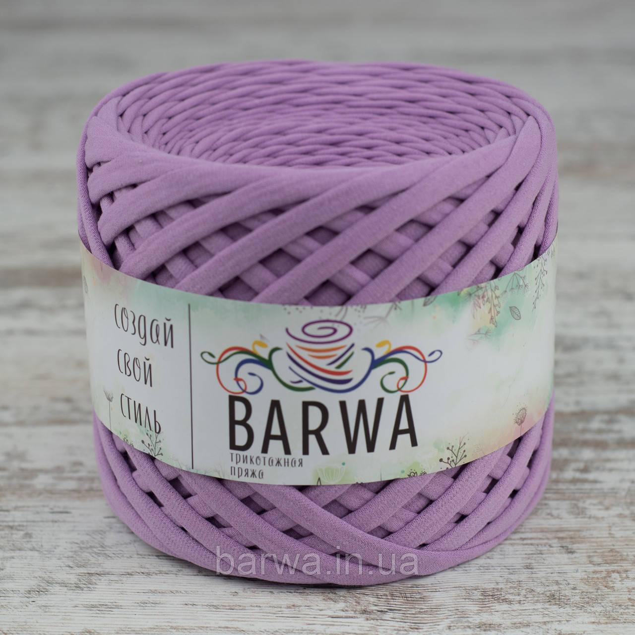 Трикотажная пряжа BARWA light 5-7 мм, Нежная сирень (Tender lilac)