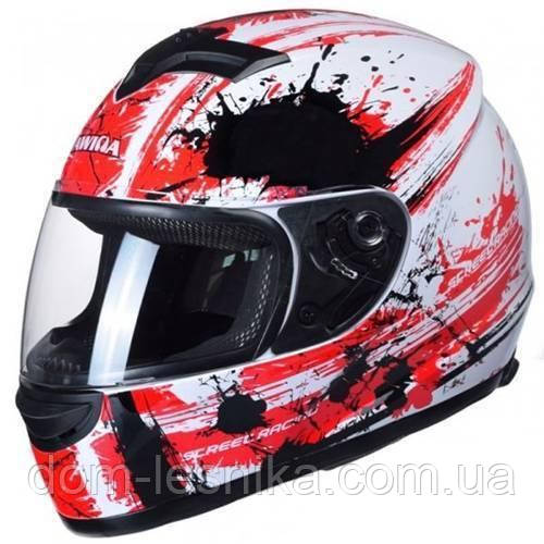 Шлем Awina Motoline B2 White/Red/Black