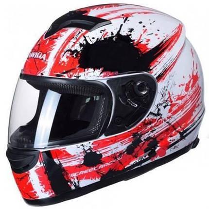 Шлем Awina Motoline B2 White/Red/Black, фото 2