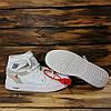 Кроссовки мужские в стиле Nike Air Jordan Off-White белые с серыми вставками, фото 2