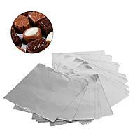 Фольга для конфет серебро 8*8 см 100 шт