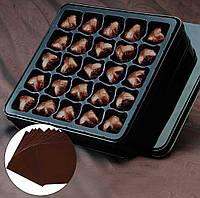 Фольга для конфет коричневая 8*8 см 100 шт