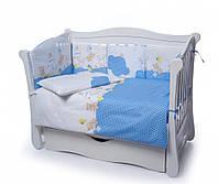 Детская постель Twins Comfort Горошки С-020 голубой 4 эл