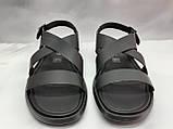Стильные чёрные кожаные сандалии Rondo, фото 2