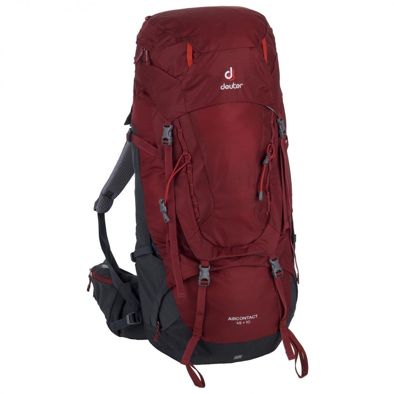 Рюкзак туристический Deuter Aircontact 45+10 cranberry-graphite (3320119 5425)