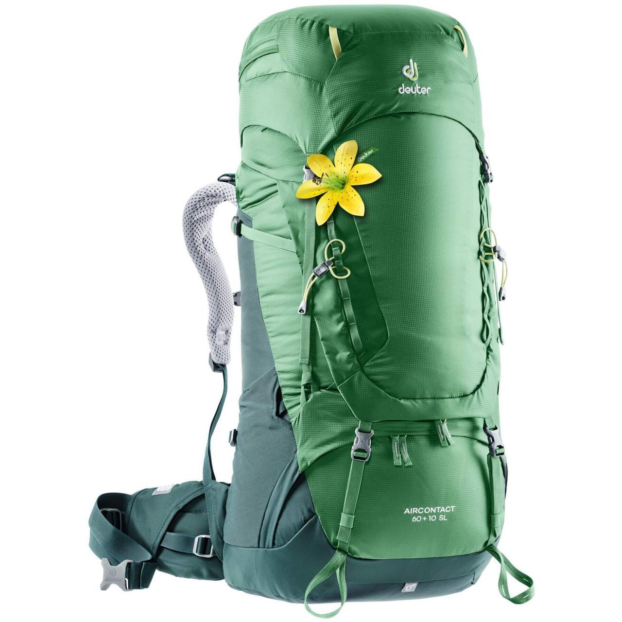Рюкзак туристический Deuter Aircontact 60+10 SL leaf-forest (3320419 2238)