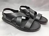 Стильные чёрные кожаные сандалии Rondo, фото 3
