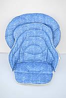 Набор чехлов к стульчику для кормления Chicco Polly Magic 3 в 1 под голубой джинс, фото 1