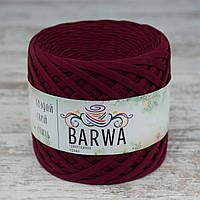 Трикотажная пряжа BARWA light 5-7 мм, Спелая вишня