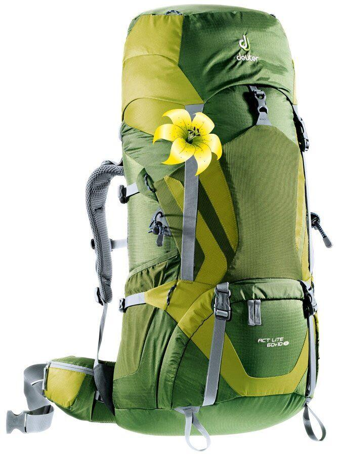 Рюкзак туристический Deuter Aircontact 50+10 SL pine-moss (3320216 2250)