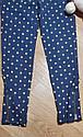 Хлопковые стрейчевые треггинсы  синие в горошек брюки на девочку с молниями внизу Crazy8 (США) (Размер 5-6Т), фото 3