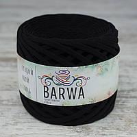 Трикотажная пряжа BARWA light 5-7 мм, Черный бархат