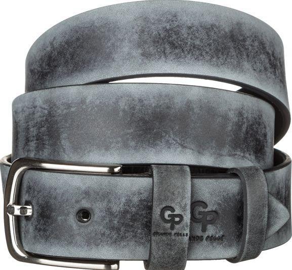 Ремень мужской Grande Pelle 11064 кожа Серый