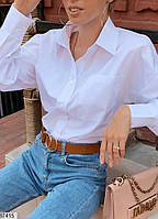 Рубашка женская демисезонная коттон размер 42-46 универсальный, 2 цвета