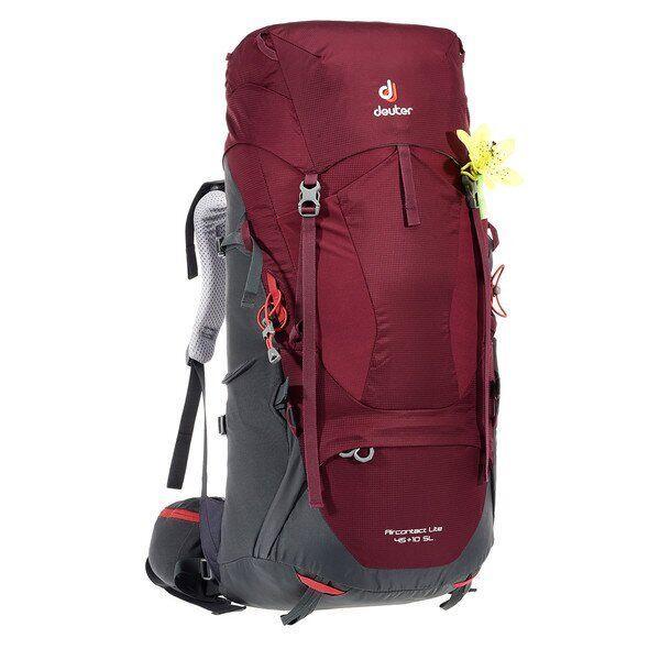 Рюкзак туристический Deuter Aircontact Lite 45+10 SL maron-graphite (3340218 5423)