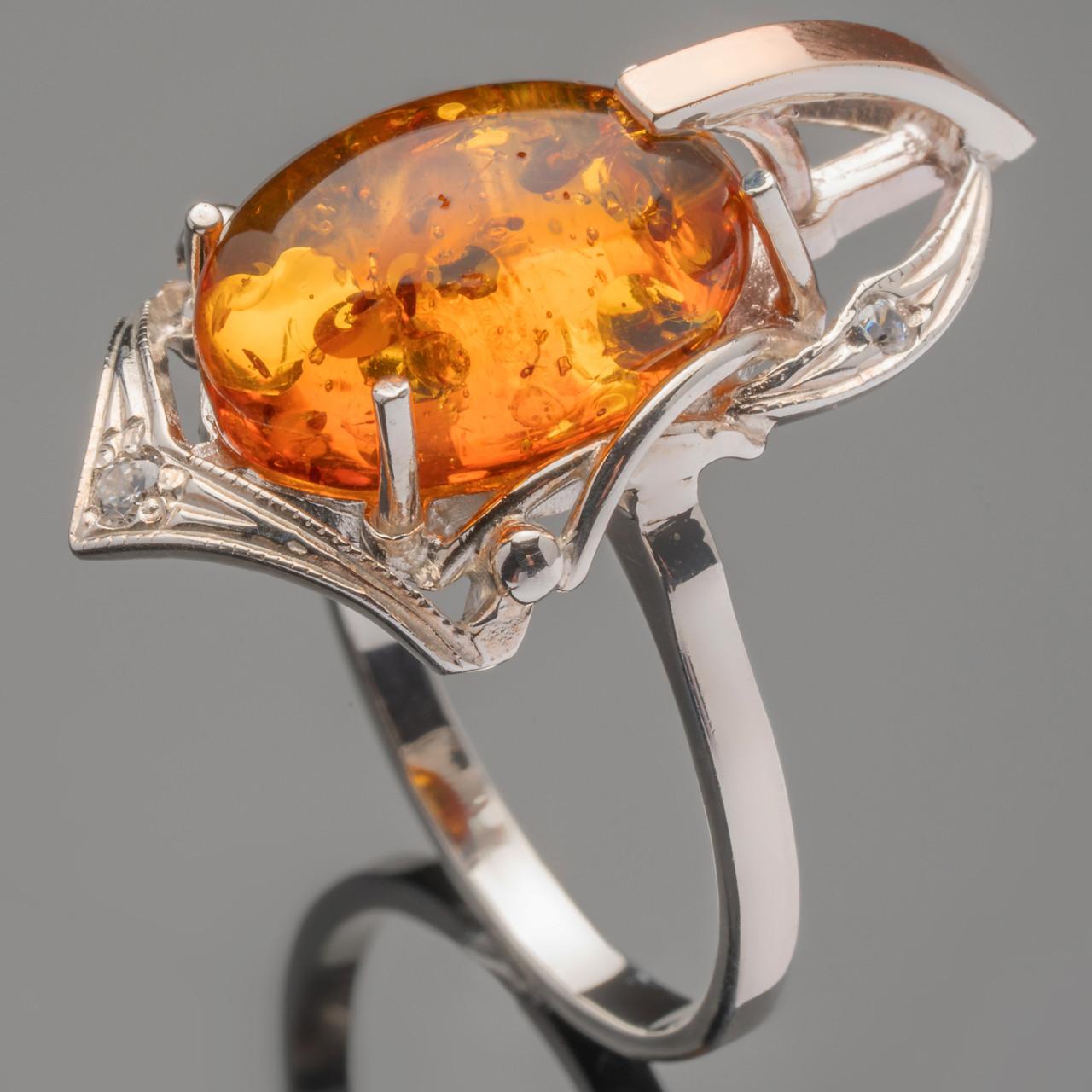 Кольцо серебряное 925 пробы с золотом арт. 311к
