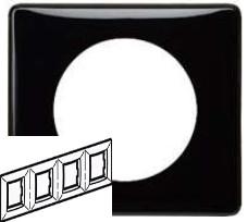CLN Рамка 4п Чорний лак