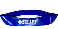Эспандер силиконовая ленточная петля L  синяя (лента сопротивления, усилие 15,8-18 кг), фото 1