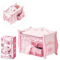 Деревянная игрушка Кровать для куклы Пеленальный столик , серия Даниэла
