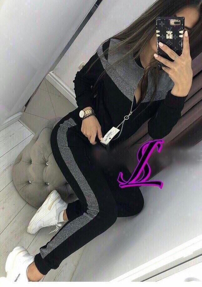 Женский спортивный костюм lux кофта на молнии штаны с манжетом вставка люрекс 2 цвета