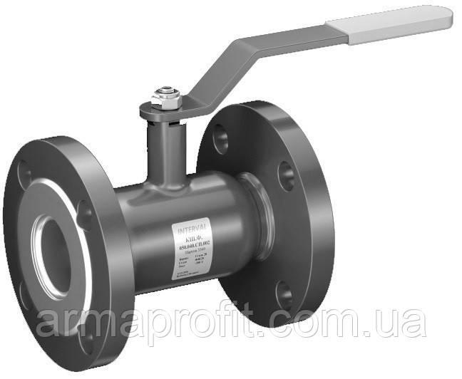 Кран шаровый стальной полнопроходной фланцевый INTERVAL Ду100 Ру16
