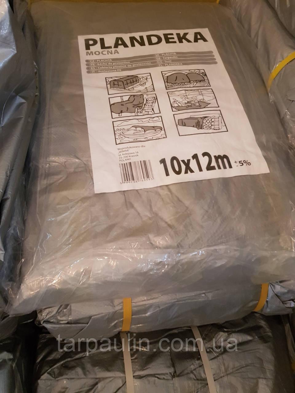 Тент Tenexim Mocny 10*12 м, готовые размеры в асс., плотный 120 г/м2 серебряный с УФ-защитой