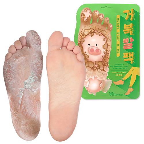 Відлущуюча маска-шкарпетки для ніг ELIZAVECCA WITCH PIGGY HELL-PORE TURTLES FOOT PACK, 1 Шт.