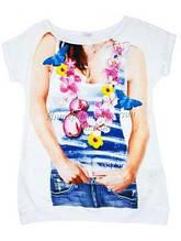 Дитяча футболка для дівчинки Byblos Італія BJ3570 Білий