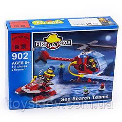 Конструктор BRICK 902 пожарные спасатели 111дет.