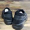 Кроссовки мужские в стиле Nike Huarache черные текстильные, фото 2