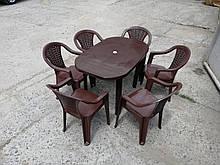 Комплект садовой мебели! Стол большой + 6 кресел!