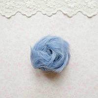 Волосы для Кукол Короткие Трессы ДЫМЧАТО-ГОЛУБЫЕ 5 см