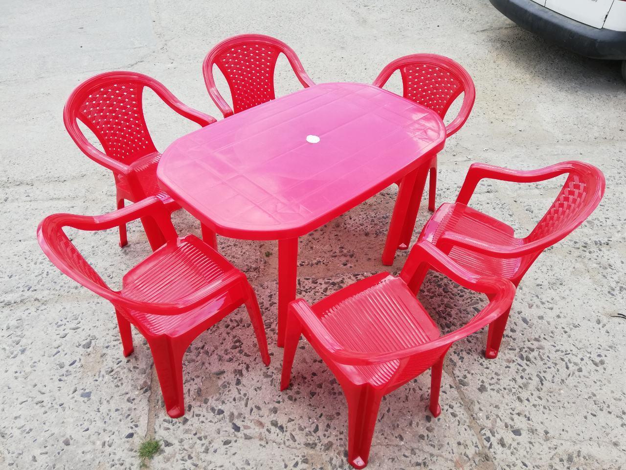 Комплект садовой мебели ЛЮКС! Стол большой + 6 кресел!