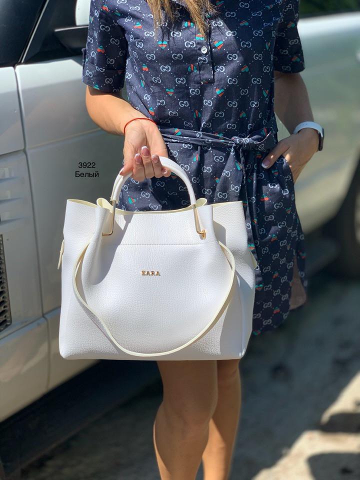 Мягкая сумка с косметичкой клатчем