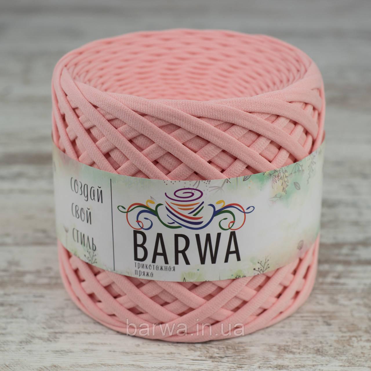 Трикотажная пряжа BARWA uitra light 3-5 мм, Фламинго