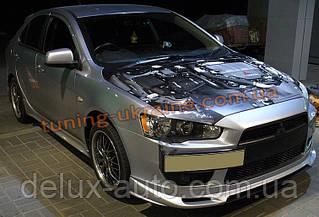 Юбка передняя на Mitsubishi Lancer X 2007+ (ZODIAK-STYLE)