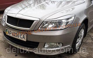Юбка передняя (накладка) на Skoda Octavia A5 2009+