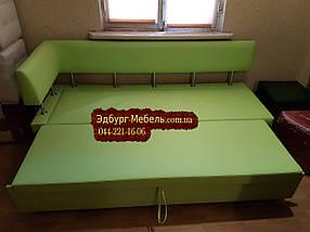 Диван для кухни Экстерн со спальным местом салатовый, фото 2