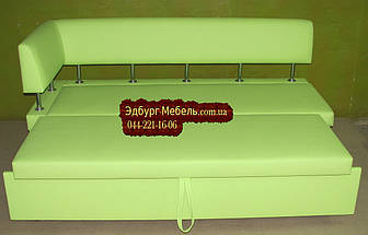 Диван для кухни Экстерн со спальным местом салатовый, фото 3