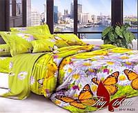 Яркий комплект 2 спальный постельного белья  3д  XHY420