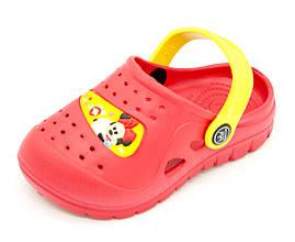 Сабо для девочки Размеры: 29-30; Красно-желтый