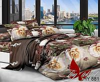 Двуспальный комплект постельного белья с 3D(3Д) эффектом XHY881 Праздничное постельное белье