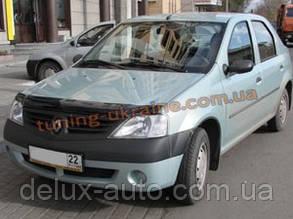 Дефлектор капота (мухобойка) SIM для Dacia Logan MCW 2004+ (Дачиа Логан МСВ 2004+)