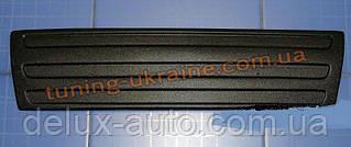 Зимняя накладка (заглушка) на решетку радиатора Volkswagen Caddy (фольксваген кэдди) 2004-2010  низ матовая