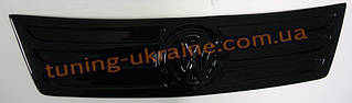 Зимняя накладка (заглушка) на решетку радиатора Volkswagen Caddy (фольксваген кэдди) 2004-2010  верх глянец